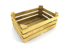 Empty wooden crate Stock Photos
