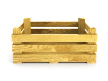 Empty wooden crate Royalty Free Stock Photos
