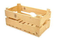 Empty wooden crate Royalty Free Stock Photo