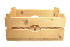 Empty wooden crate Stock Photo