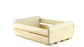 Empty wooden crate isolated on white Stock Photo