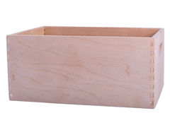 Empty wooden crate Stock Image