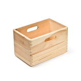 Empty wooden crate Royalty Free Stock Images