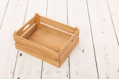 Empty wooden crate to fill Royalty Free Stock Image