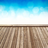 Empty Wooden Deck Stock Photos