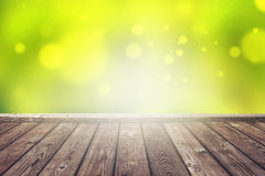 Empty Wooden Deck Royalty Free Stock Images