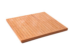Empty wooden desk for board game Go Royalty Free Stock Images