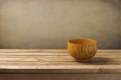 Empty wooden dish Royalty Free Stock Photo