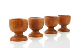 Empty wooden egg holders Royalty Free Stock Image