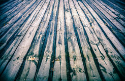 Empty wooden floor Royalty Free Stock Image
