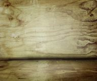 Wooden floor and wall. Empty wooden floor and wall Stock Images