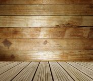 Wooden floor and wall. Empty wooden floor and wall Royalty Free Stock Photography