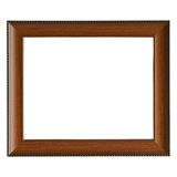 Empty wooden frame. Isolated on white Royalty Free Stock Photo