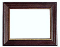 Empty wooden frame Stock Photos