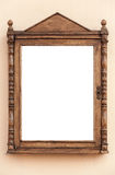 Empty wooden frame for advertisement, blank. Empty wooden frame for advertisement and information papers Stock Photos