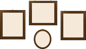 Empty Wooden Frames Royalty Free Stock Images