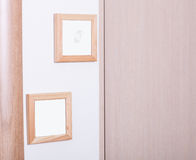 Empty wooden frames Stock Photo