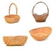 Empty wooden fruit basket Stock Photography