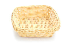 Empty wooden fruit or bread basket Royalty Free Stock Images