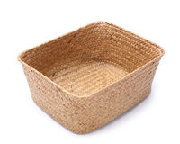 Empty wooden fruit or bread basket Stock Photography
