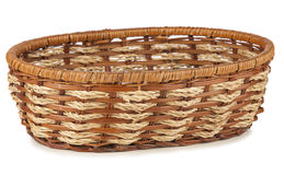Empty wooden fruit or bread basket Stock Image