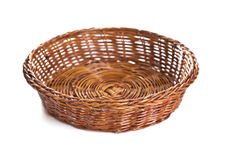 Empty wooden fruit or bread basket Royalty Free Stock Image