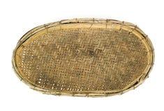 Empty wooden fruit or bread basket Stock Image