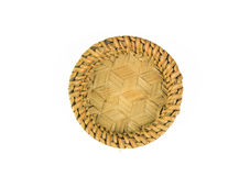 Empty wooden fruit or bread basket Stock Images