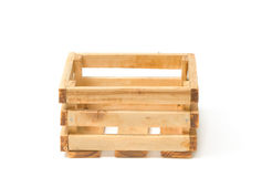 Empty wooden fruit crate Royalty Free Stock Photography