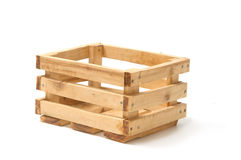 Empty wooden fruit crate Stock Photo