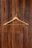 Empty Wooden Hanger Stock Photography