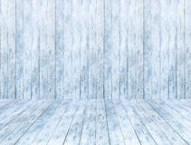 Empty wooden ice panel background and wooden ice floor or table with snow. Royalty Free Stock Image