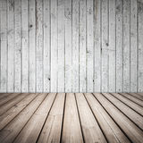 Empty wooden interior with white wall Royalty Free Stock Image