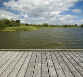 Empty wooden jetty stock photography