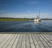Empty wooden jetty Royalty Free Stock Photos
