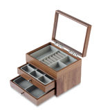 empty wooden jewelry box Royalty Free Stock Photography