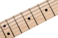 Empty wooden maple fingerboard Royalty Free Stock Images