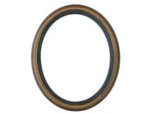 Empty Wooden Oval Frame Stock Photography