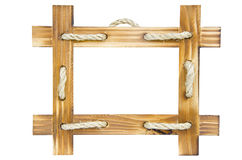 Empty wooden photo frame Royalty Free Stock Photography