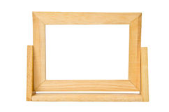 Empty wooden photo frame Royalty Free Stock Image