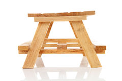 Empty wooden picnic table Stock Photography