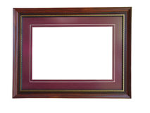 Empty wooden picture frame Royalty Free Stock Images
