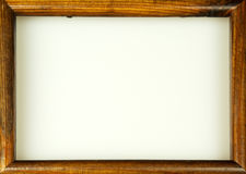 Empty wooden picture frame Stock Images