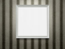 Empty wooden picture frame Stock Image