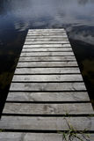 Empty wooden pier Royalty Free Stock Photo