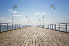 Empty wooden pier Stock Photo