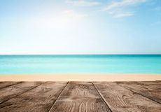 Empty wooden pier over the ocean Royalty Free Stock Image