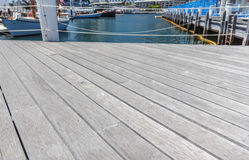 Empty wooden pier. Royalty Free Stock Images