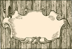 Empty wooden plank. Drawing - illustration Royalty Free Stock Images