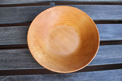 Empty wooden plates Stock Photography
